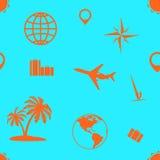 旅游业和休闲的无缝的样式 图库摄影