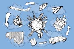 旅游业和旅行s 库存例证