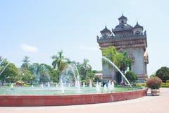 旅游业在老挝。 免版税库存图片