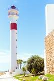 旅游业在西班牙 灯塔的看法在花名册,卡迪士,西班牙的 库存图片