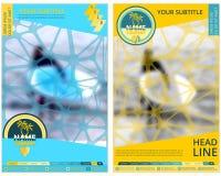 旅游业或旅行公司的盖子 被弄脏的背景 抽象背景名片公司设计 广告和信息 图库摄影