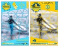 旅游业或旅行公司的盖子 被弄脏的背景 抽象背景名片公司设计 广告和信息 免版税库存照片
