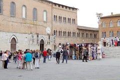 旅游业,托斯卡纳,锡耶纳,意大利 库存照片