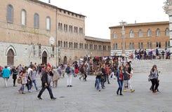旅游业,托斯卡纳,锡耶纳,意大利 库存图片