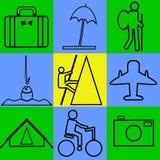 旅游业 向量例证