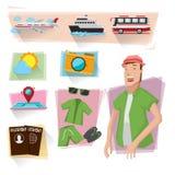 旅游信息图表 免版税图库摄影