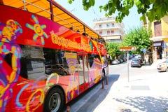 旅游公共汽车-雅典,希腊 免版税库存图片