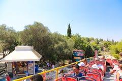 旅游公共汽车-雅典,希腊 免版税图库摄影