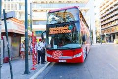 旅游公共汽车-雅典,希腊 免版税库存照片