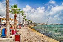 旅游区在塞浦路斯帕福斯 免版税图库摄影