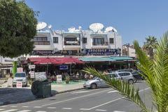 旅游区域在帕福斯,塞浦路斯 免版税图库摄影