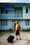 旅游参观一个老村庄在仰光,缅甸 图库摄影