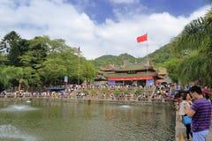 旅游参观生活池塘 图库摄影