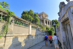 旅游参观gulangyu街道 库存照片