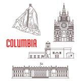 旅游哥伦比亚的地标和建筑学 免版税库存图片