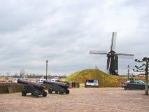 旅游地标在赫斯登荷兰镇。 免版税图库摄影