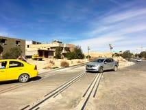 旅游城市Ouargla阿尔及利亚场面  以前, Ouargla是换的中心  库存图片