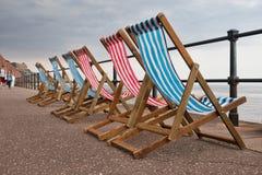 旅游季节的恶劣天气-德文郡,英国 免版税库存照片