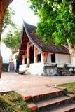 旅游寺庙老镇在老挝 免版税图库摄影