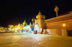 旅游市场在晚上, Sharm El谢赫,埃及 免版税库存图片