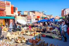 旅游市场,马拉喀什 免版税库存照片
