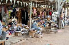 旅游摊位,遗产村庄,阿布扎比 库存图片