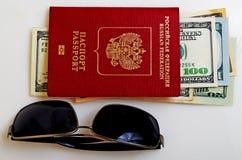 旅游旅行和海外商务旅行俄国公民 库存照片