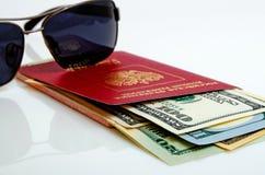 旅游旅行和海外商务旅行俄国公民 免版税库存图片