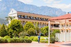 旅游旅馆在凯梅尔,土耳其 免版税库存照片