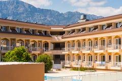 旅游旅馆在凯梅尔,土耳其 免版税图库摄影