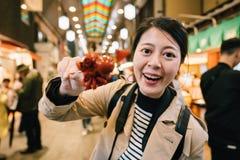 旅游显示日本人小的章鱼 图库摄影