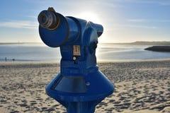 旅游望远镜,阿威罗海滩,葡萄牙 库存照片