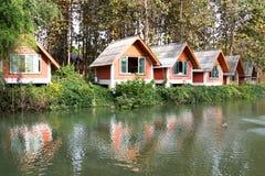 旅游村庄在泰国 免版税图库摄影