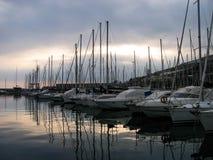 旅游港口,利古里亚-意大利 库存图片