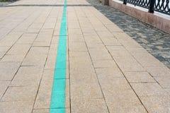 旅游绿线步行在伊尔库次克 俄国 图库摄影