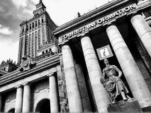 旅游讯息点在华沙波兰 免版税库存图片