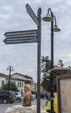 旅游路标尼科西亚,北部塞浦路斯 图库摄影