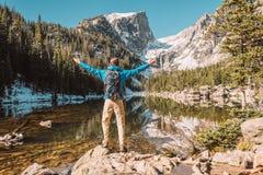 旅游近的梦想湖在科罗拉多 库存图片