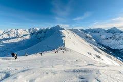旅游道路天foto在Tatra山的 库存照片