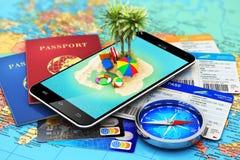 旅行、旅游业、假日和假期概念 免版税库存照片