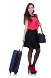 旅行与行李的假期概念 免版税库存照片