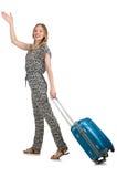 旅行与行李的假期概念 免版税库存图片