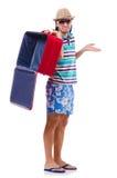 旅行与行李的假期概念 免版税图库摄影