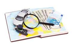 旅行乘汽车在欧洲 免版税库存图片