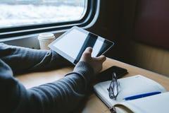 旅行乘火车的一个人 图库摄影