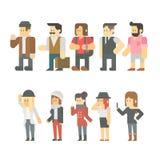 旅行人集合平的设计  向量例证