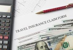 旅行保险申请表 库存图片