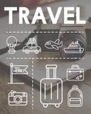 旅行假日旅途探险图表概念 库存照片