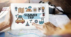 旅行假期太阳乐趣享受概念 库存图片