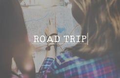 旅行冒险目的地旅途追求概念 免版税库存照片